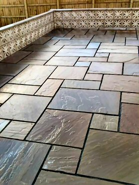 flagstone and block paving patio installers Durham